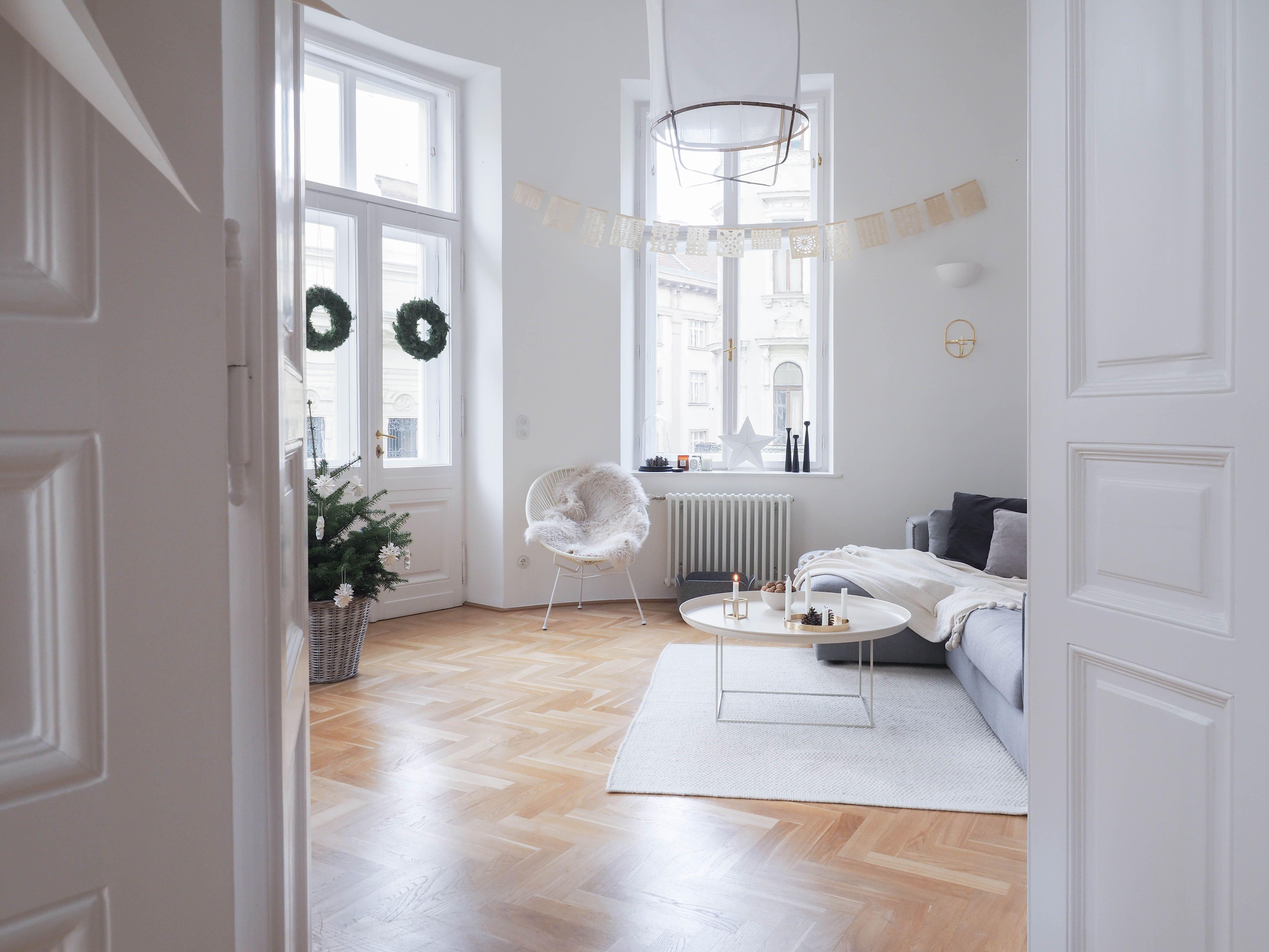 Weihnachtsdeko Wohnzimmer ~ White christmas meine weihnachtsdeko im wohnzimmer