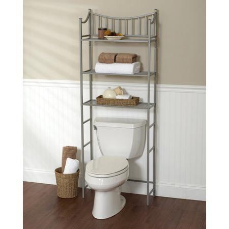 Home Bathroom storage over toilet, Bathroom rack, Bath shelf