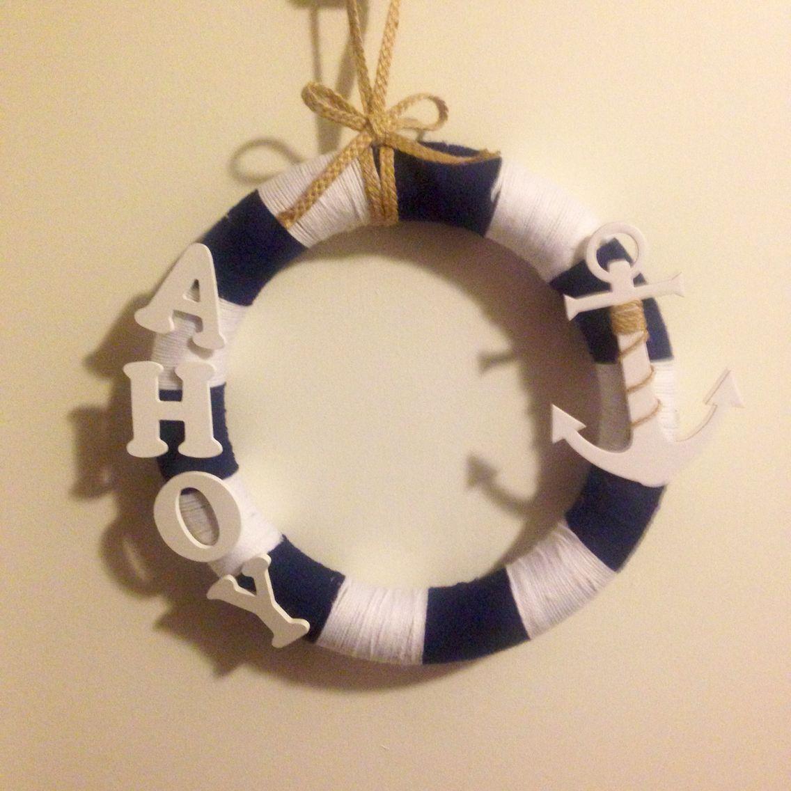 Nautical Wreath for Bathroom!