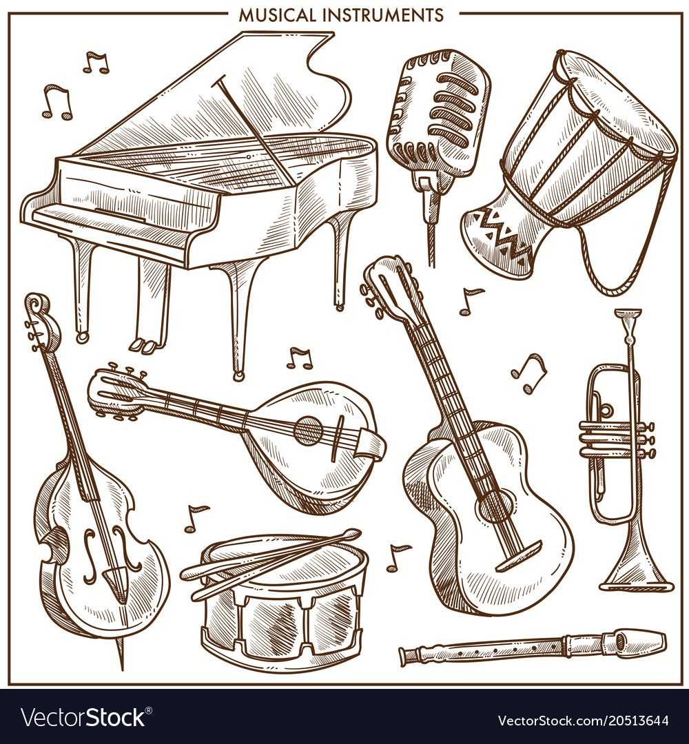 jazz drawing Google Search Musical instruments drawing
