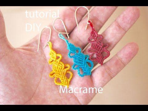fringed cavandoli earrings - micro macrame tutorial - YouTube