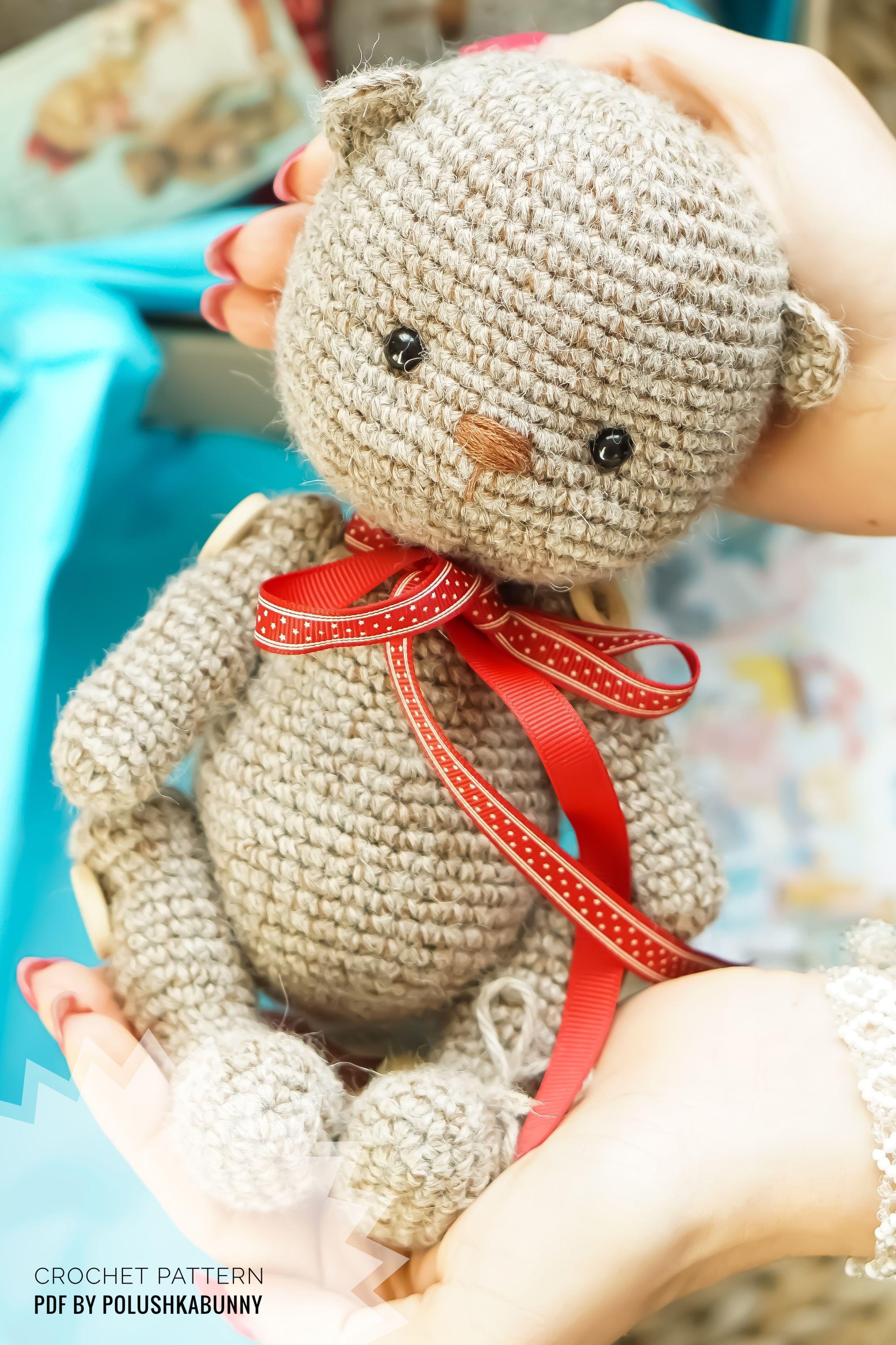 Amigurumi Tiny Bear Crochet Free Pattern | Crochet teddy bear ... | 3715x2476
