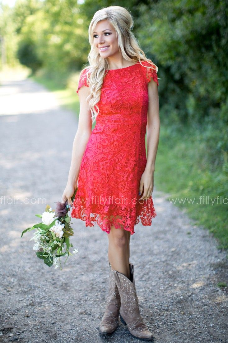 Bridesmaid red lace fit and flare mini dress bust in small 28 bridesmaid red lace fit and flare mini dress bust in small 28 medium 30 ombrellifo Choice Image