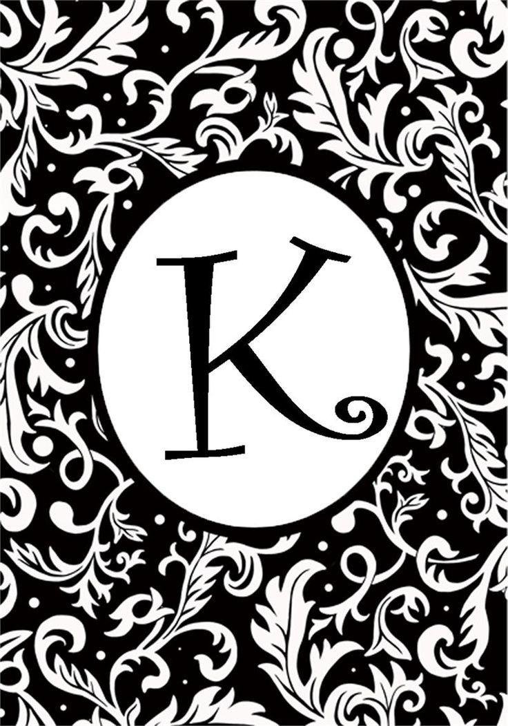 K For Me Monogram Wallpaper Beautiful Lettering Initial Art