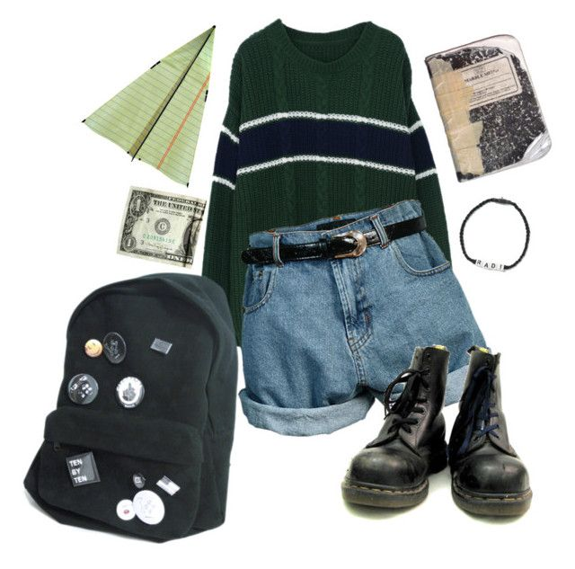 U0026quot;90s grunge @ schoolu0026quot; by sspaceprincess liked on Polyvore featuring Retru00c3u00b2 CO and Venessa ...