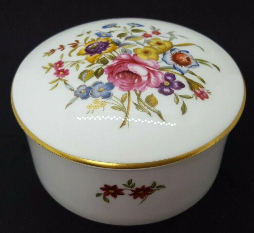 VTG Royal Worcester 3866 Trinket Box Dresser Box