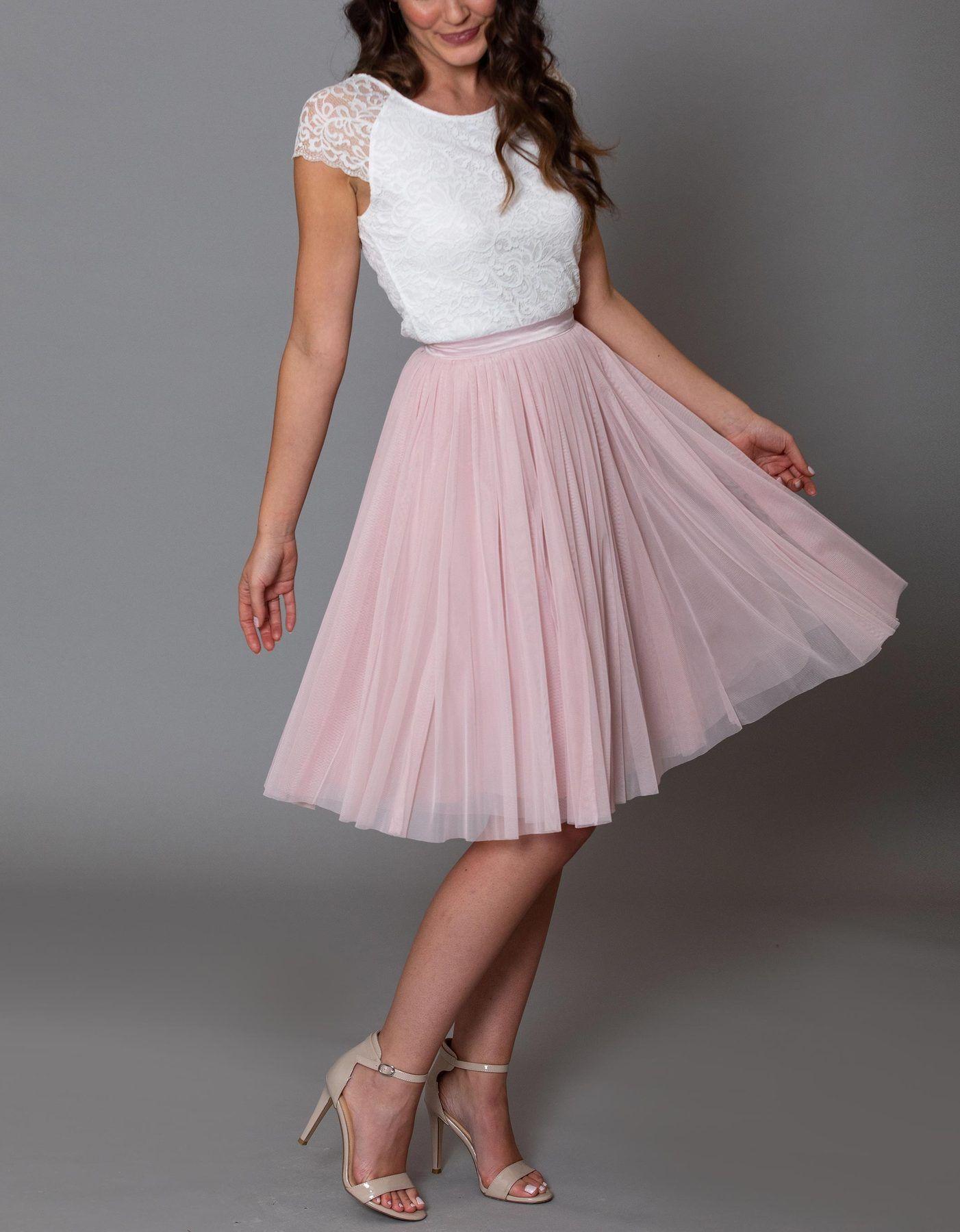 CONSTANT LOVE Tüll Rock kurz Soft-Rose | Kleid standesamt ...