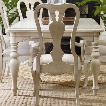 Paint queen anne chairs like this | Color | Dining table