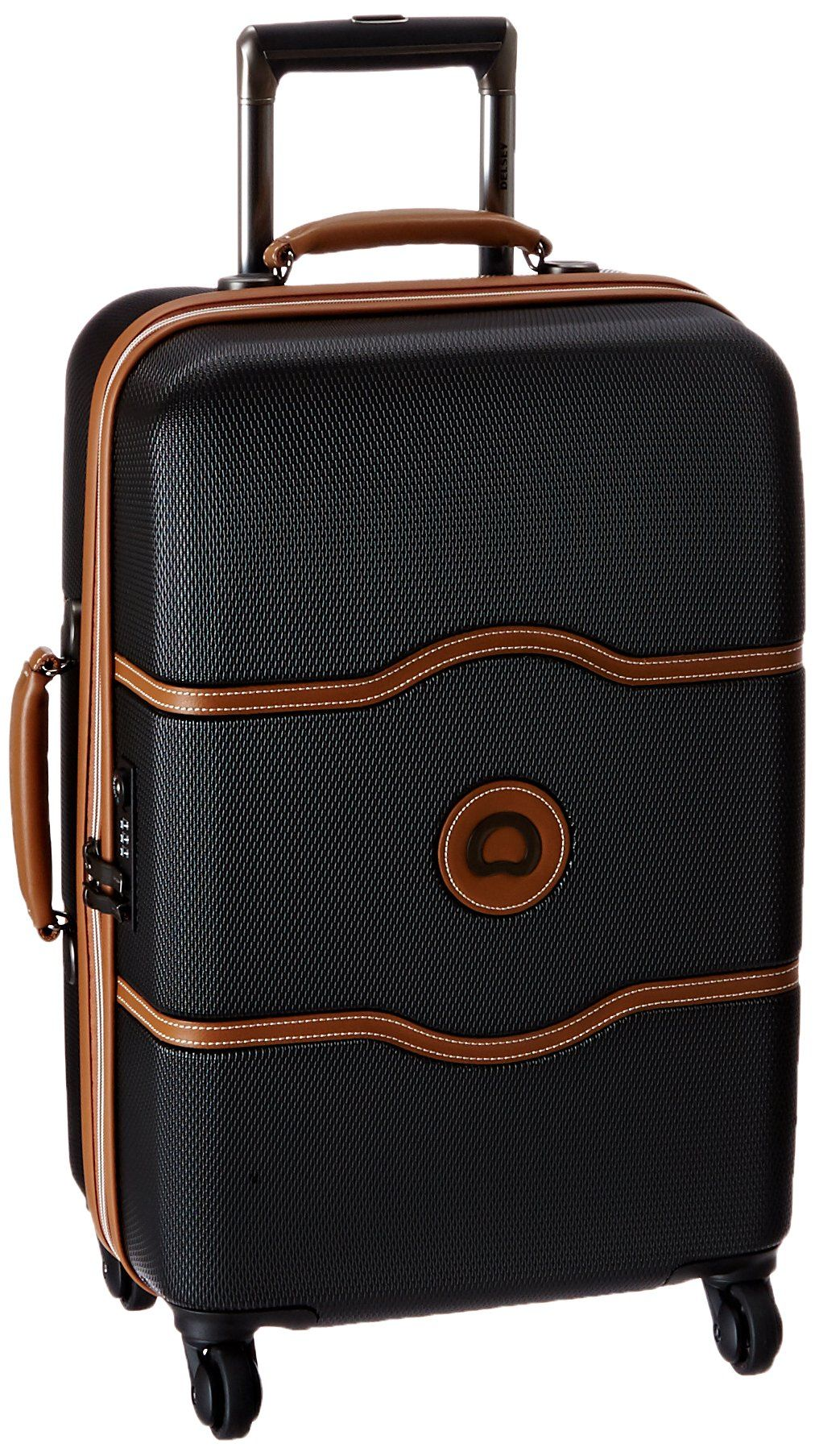 2878ad9b8f03 Delsey Luggage Chatelet 21 Inch Carry-On Spinner, Black, One Size ...