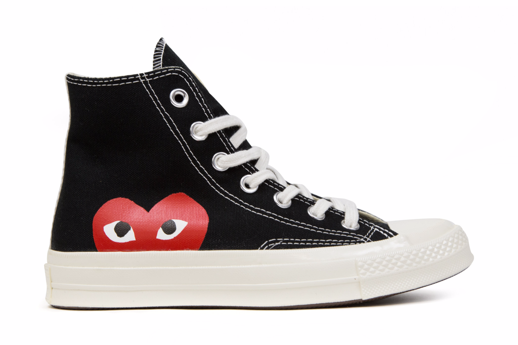 special section most popular high fashion Converse x Comme Des Garcons PLAY All Star Chuck '70 Hi ...