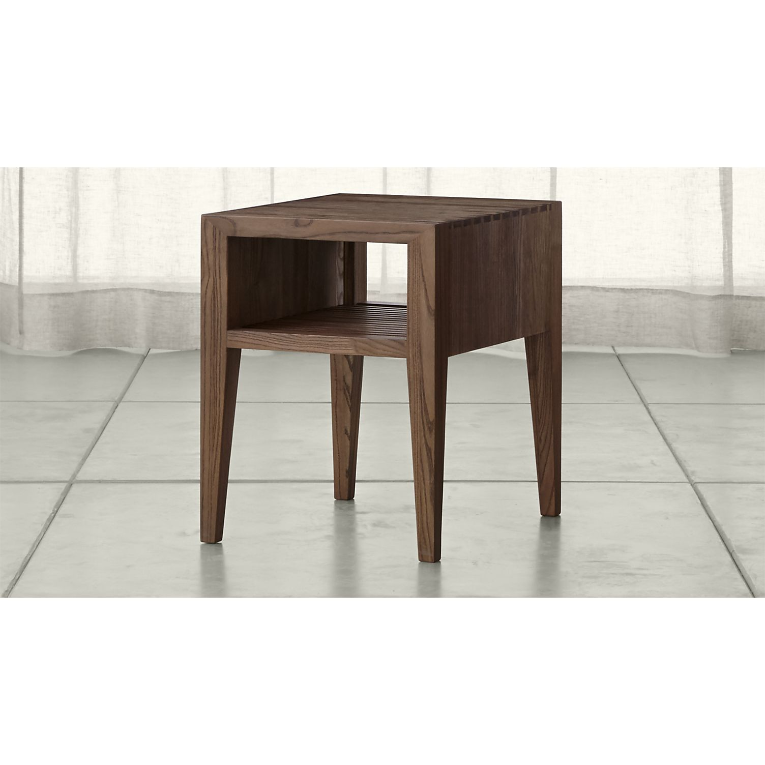 Marin Shiitake Solid Wood Side Table Crate and Barrel