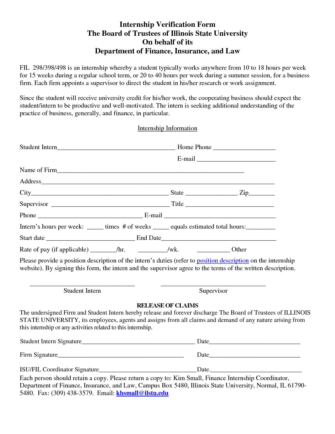 16 Awesome free printable employment verification form – Printable Employment Verification Form