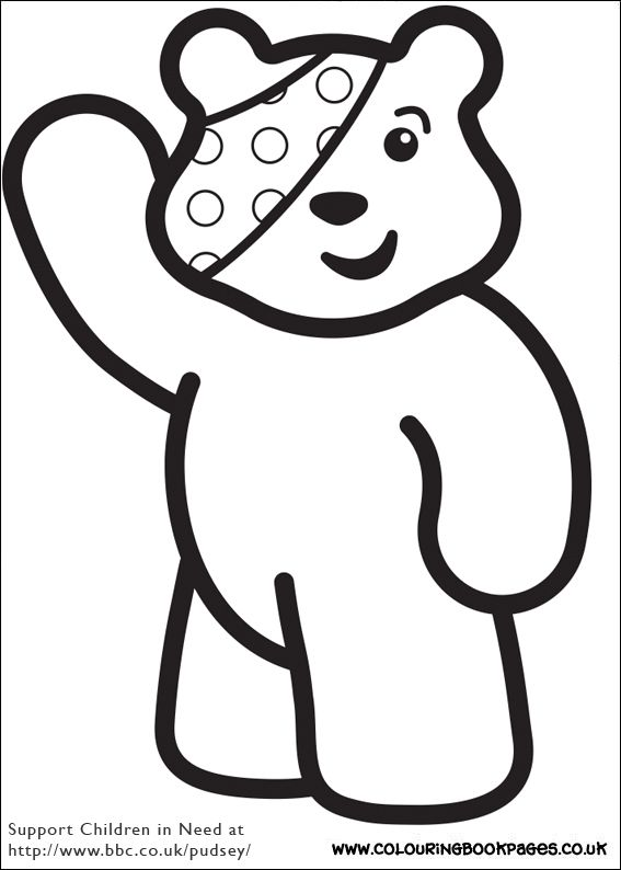 Printable Children In Need Pages 2 Children In Need Coloring