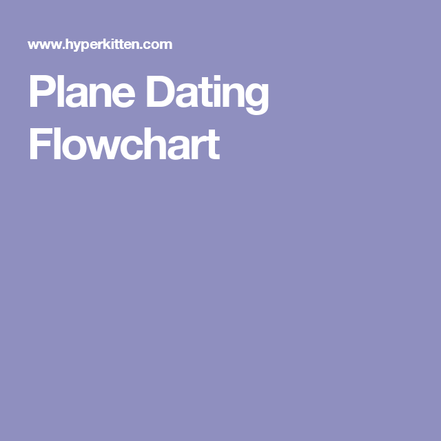plane dating flowchart