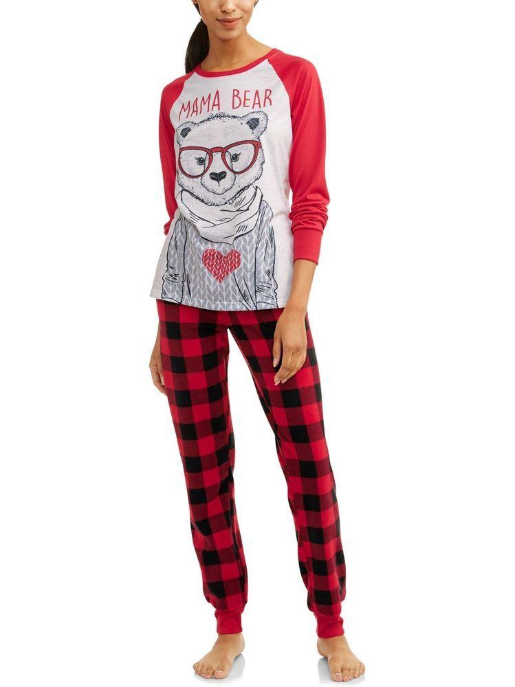 Family Pjs Mama Bear Family Sleep Pajamas 2 Piece Set Women S Fashion Clothing Shoes Accessories Womensclo With Images Family Pjs Mama Bear Family Christmas Pajamas