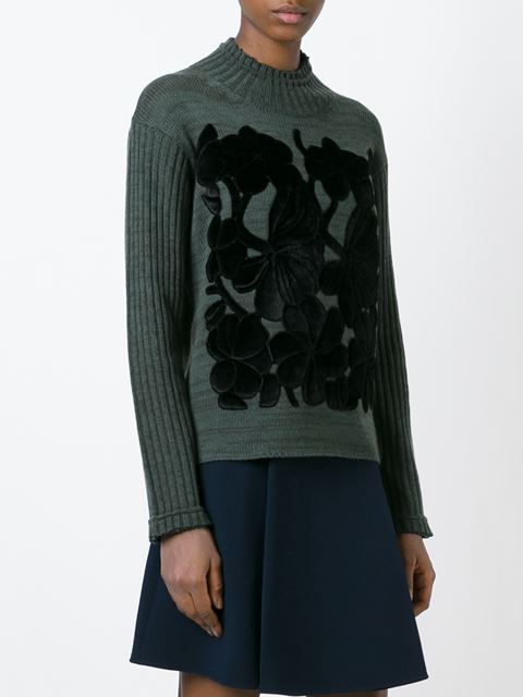 embossed flower sweater