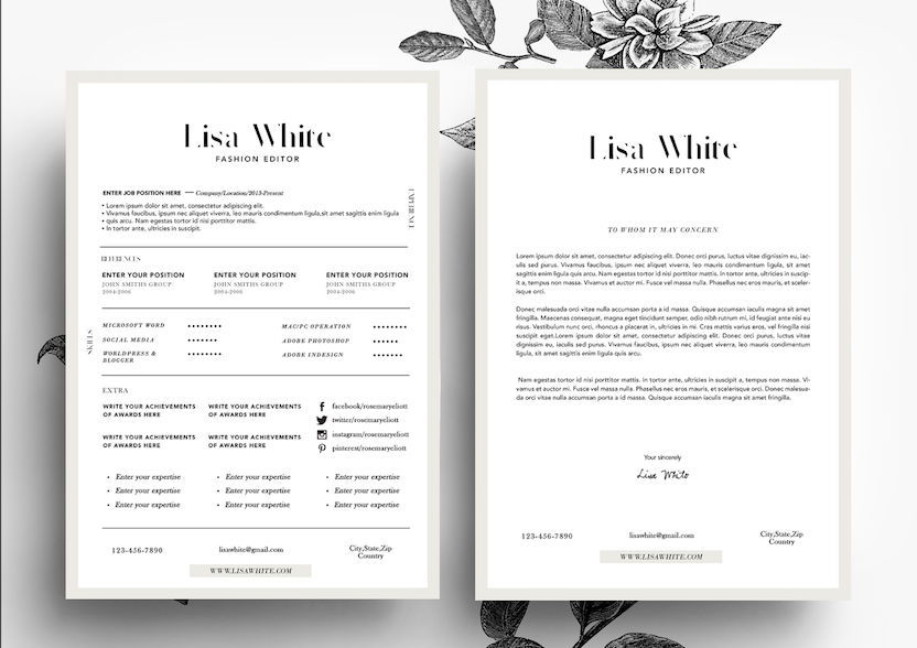 Delicate Resume Template  Photography Business Photography Tips