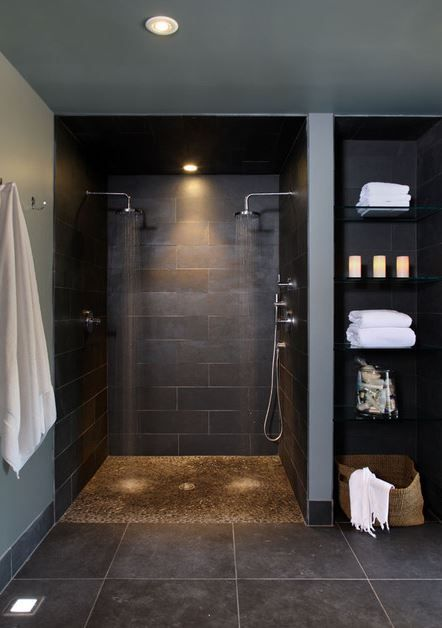 Doorless Shower Designs Teach You How To Go With The Flow | Badkamer ...