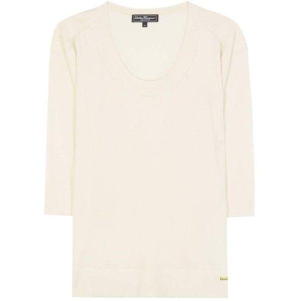 Salvatore Ferragamo Cashmere and Silk Sweater (€685) via Polyvore ...