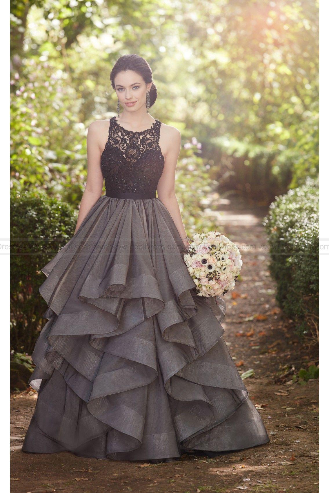 Martina liana black ball gown wedding dress separates style brody