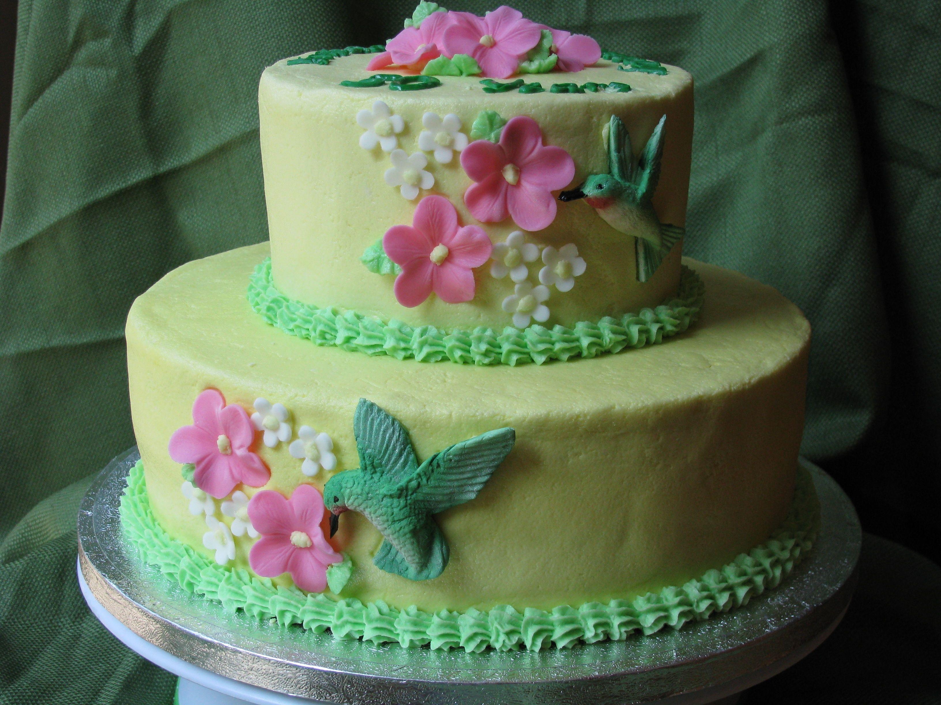 Hummingbird Anniversary Cake   Cake, Anniversary cake ...