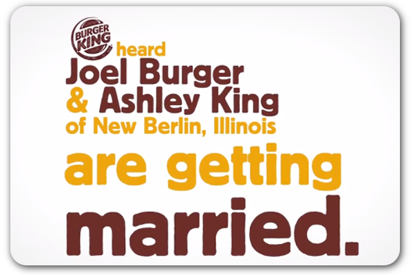 Burger King Pays For Burger King Wedding Pr Daily Burger King Wedding Articles Public Relations