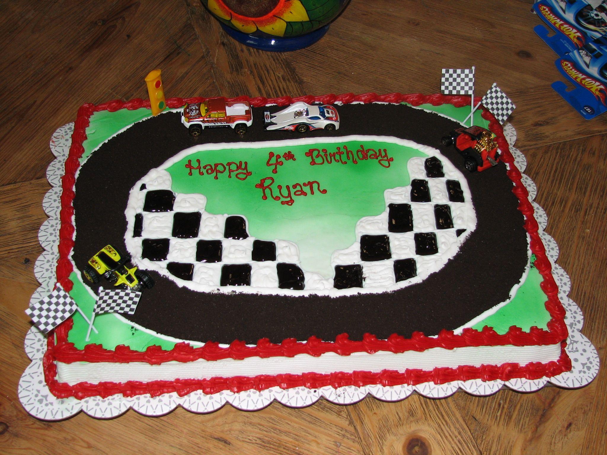 Race Car Cake W Oreo Track