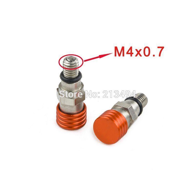 Fork Air Bleeder Valves For Ktm 50 65 85 105 125 144 150 Sx Mini Sx Xc M4x0 7 Orange Ktm Exc Ktm Motorcycle Wheels