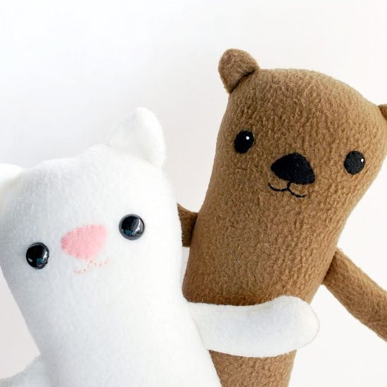 Use this free pattern to sew up an otter, a cat, or maybe some other ...