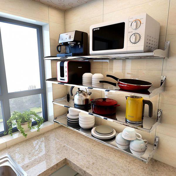 Ikea Stainless Steel Shelves For Kitchen Inexpensive Tables 宜家304不锈钢厨房卫浴置物架壁挂隔板层架客厅收纳架储物架包邮 Taobao 宜家304不锈钢厨房卫浴置物架壁挂隔板层架客厅收纳架储