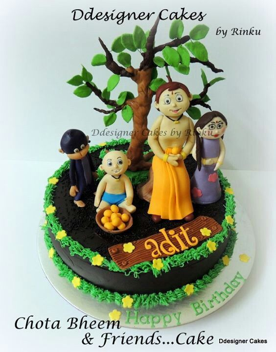 Chota Bheem Cakes recipes and food Pinterest Cake, Creative - best of chhota bheem coloring pages games