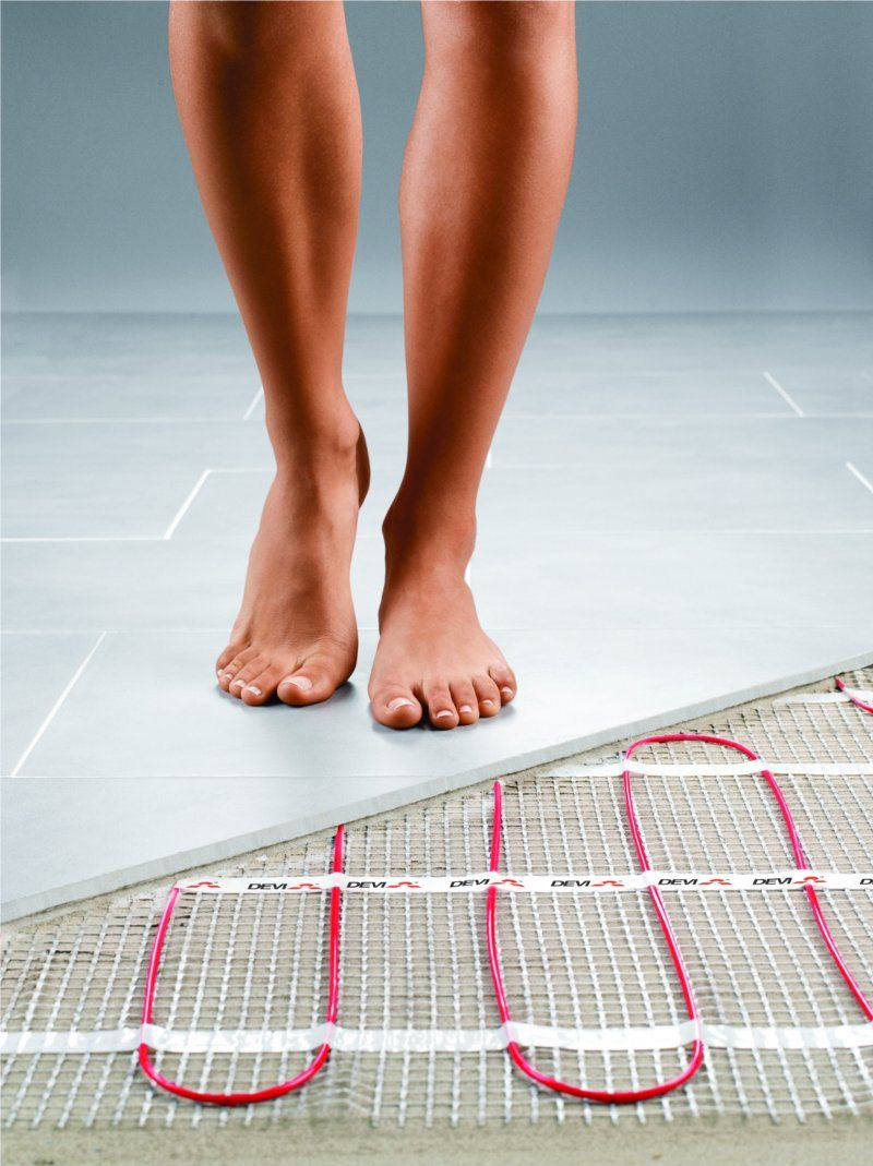 Heated Bathroom Floor How To Heat A Small Bathroom Without Sending Your Electric Bill .