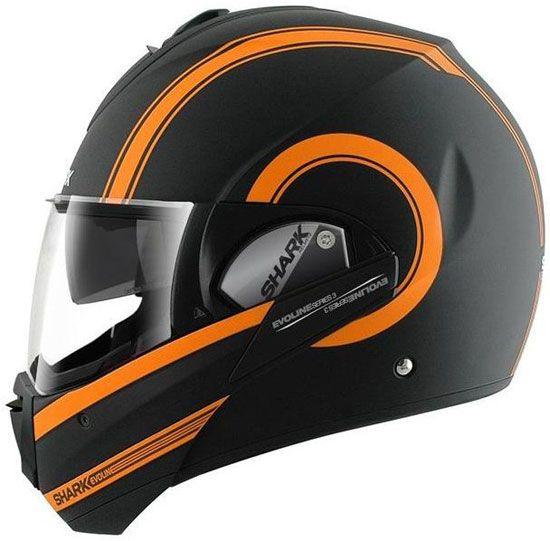 Shark Evoline 3 ST Moovit Helmet - Matte Black/Orange