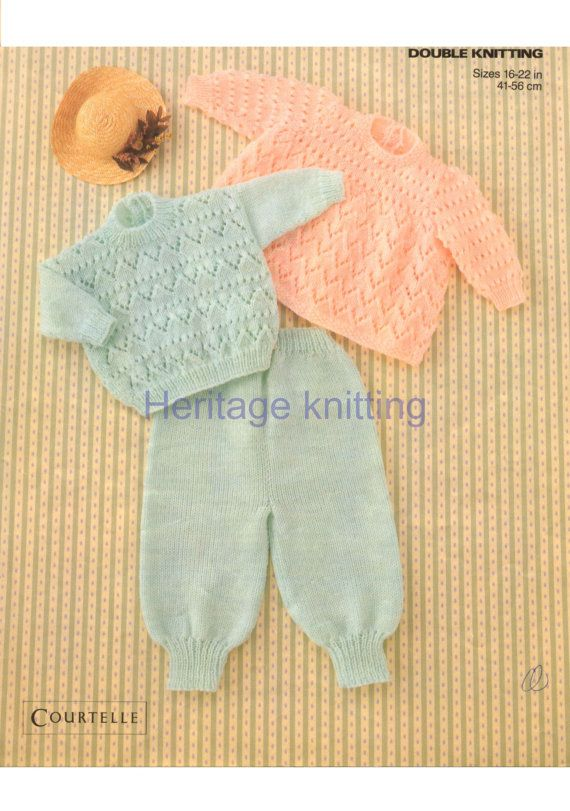baby angel top sweater and trousers dk knitting pattern 99p pdf