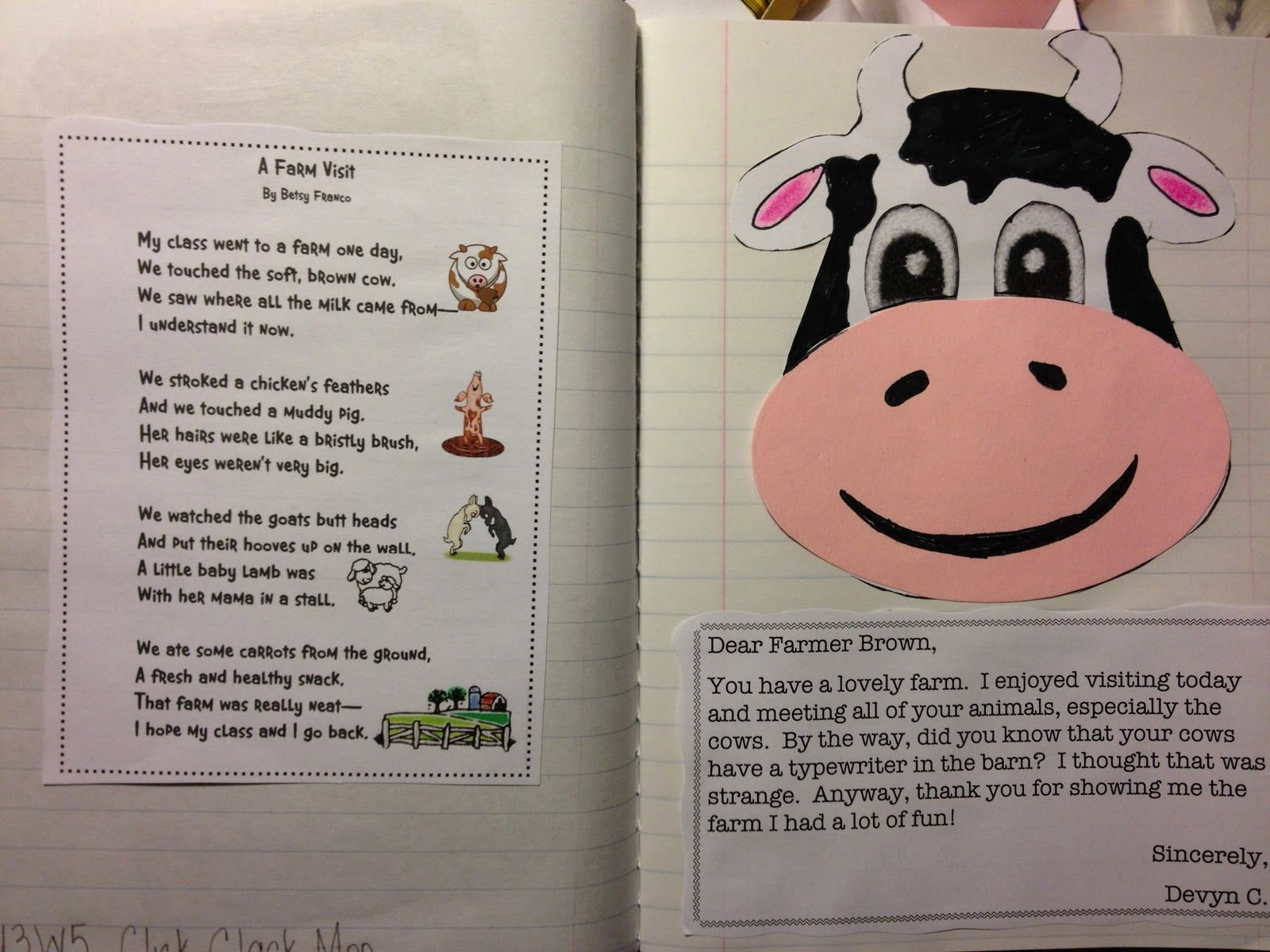 Just 4 Teachers Sharing Across Borders U3w5 Click Clack Moo Cows That Type Poem And Activity