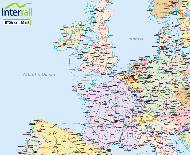 Interrail Map Free Download Railway Map Of Europe The Best - Norway map free download