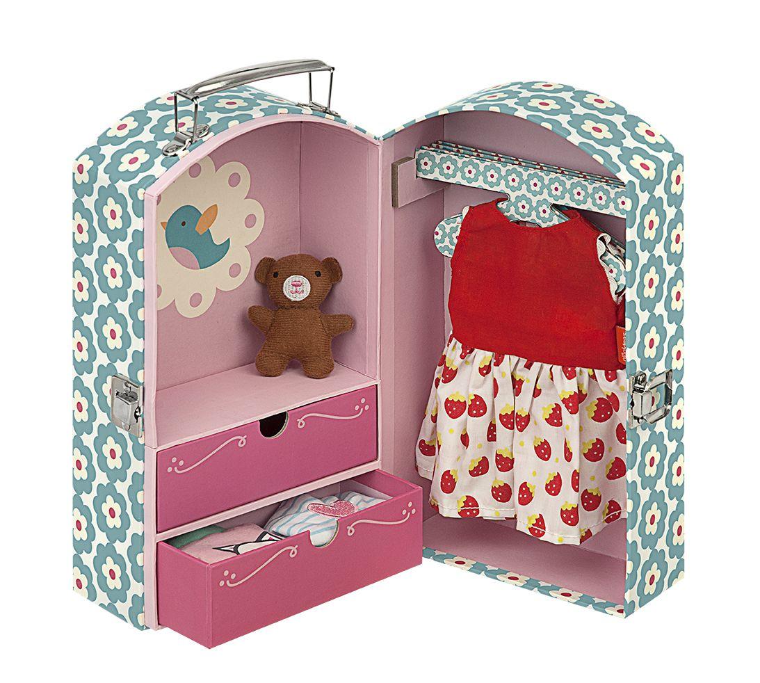 ropero maleta para ropa de muñecas - Casaideas // wardrobe for doll ...
