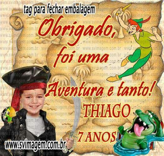 Peter pan  terra  do nunca - tag personalizada www.svimagem.com.br