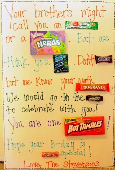 candy card Tumblr Birthday Pinterest – Cute Birthday Card Ideas for Friend