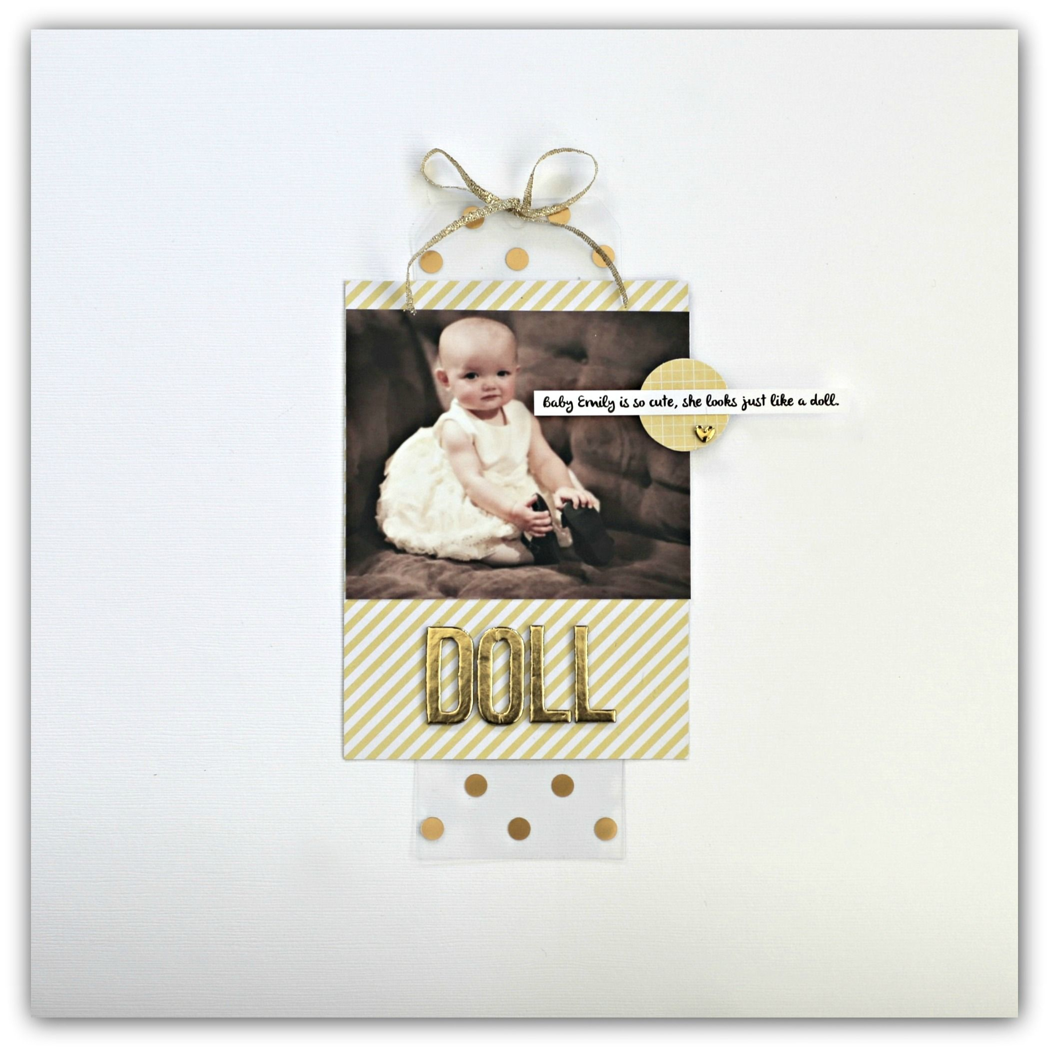 Doll by Jody Wenke Scrapbook layout