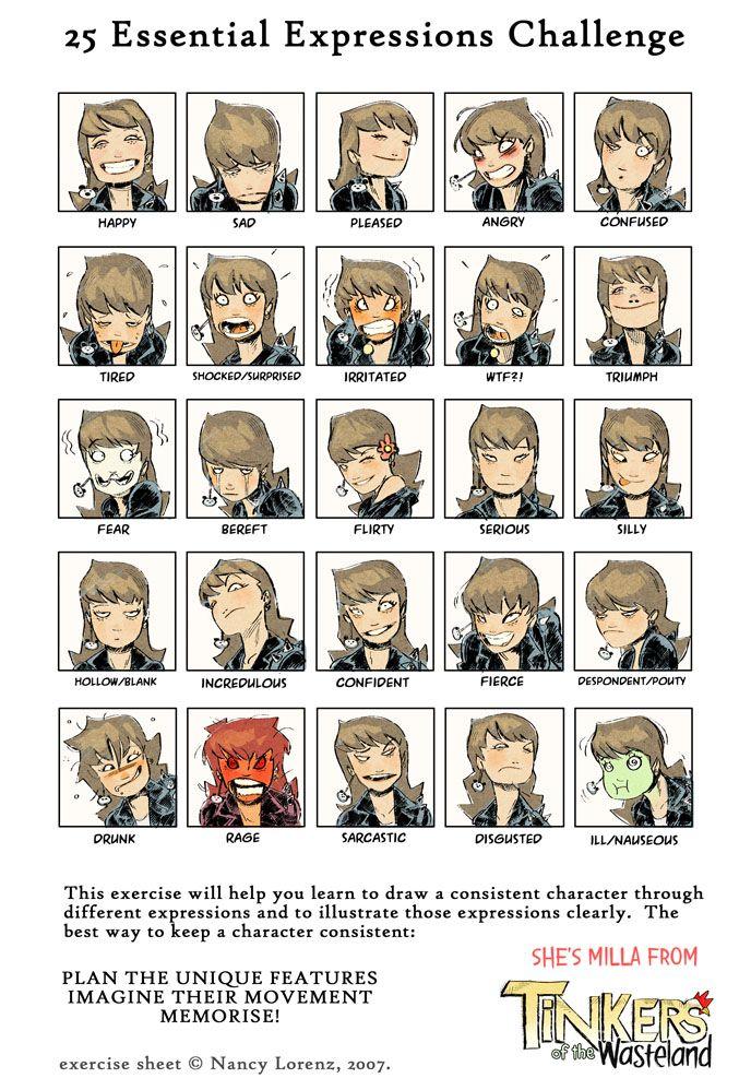 Character Design Tools : Http raultrevino viantart art milla expressions