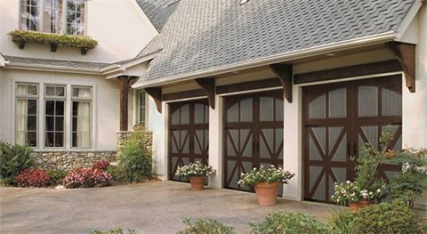 Classica Garage Door Two Tone Dark Brown And Terratone For The