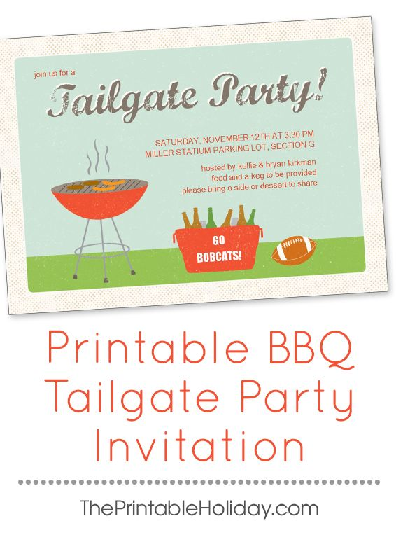 Root on your favorite team with friends by hosting a tailgate party - invitation template online