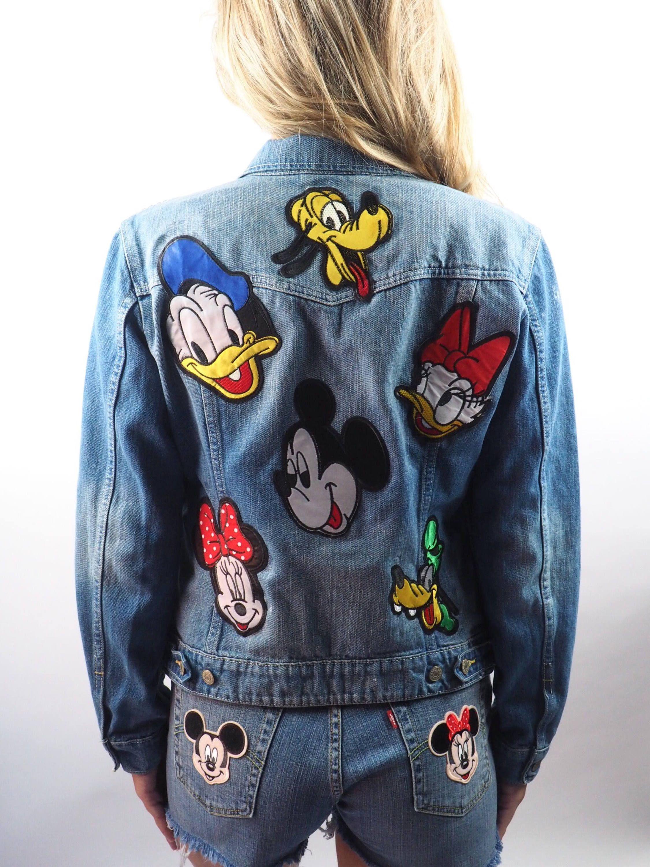 Disney Parks Characters Mickey Mouse Pluto Goofy Minnie Mouse Etsy Vintage Levis Jeans Womens Levi Levis Jean Jacket [ 3000 x 2250 Pixel ]