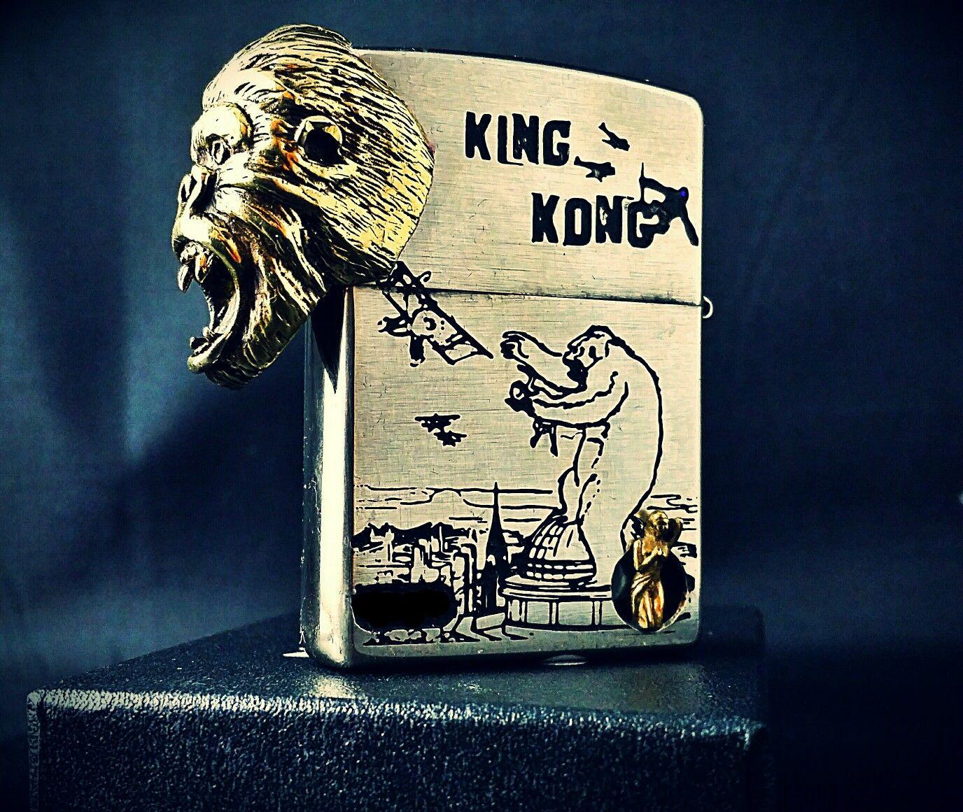 Custom Zippo King Kong By SCP | BRIQUETS ZIPPO | Pinterest | Lighter ...