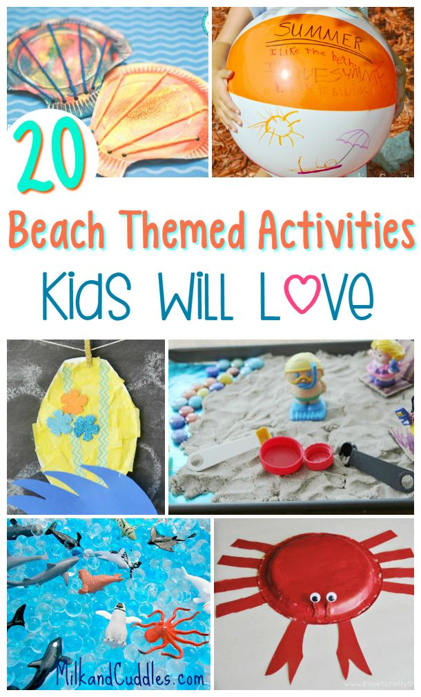 20 Beach Themed Activities For Kids Beach Themed Crafts Beach