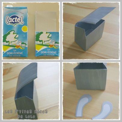Id e d co pour p ques faire une bo te lapin en brick de lait bricolages paques enfant - Idee pour paques ...