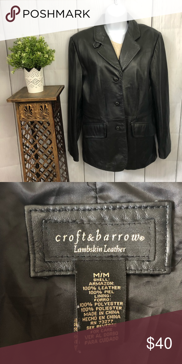 b9d1a4c2f Croft & Barrow 100% Lambskin Leather Jacket Croft & Barrow 100 ...