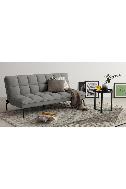 Hallie Click Clack Sofa Bed Manhattan Grey With Black Legs