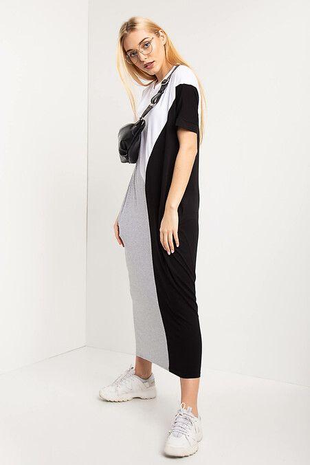 4329de9a8f5 Трикотажное платье IVER длиной миди с короткими рукавами и боковыми  карманами Garne 3032810